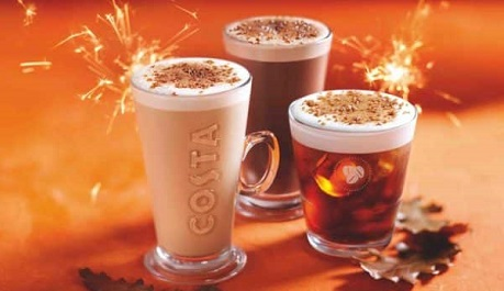 Autumn menu at Costa Coffee