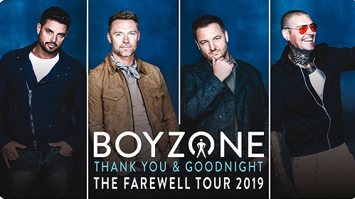 Win 2 tickets to see Boyzone plus a meal for 2