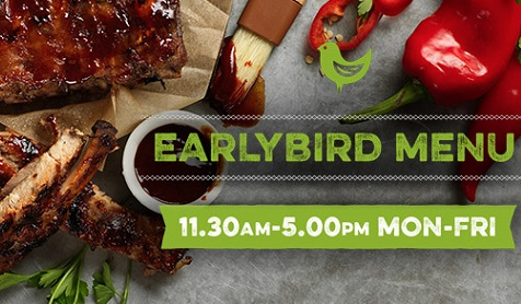 Harvester's Early Bird Menu