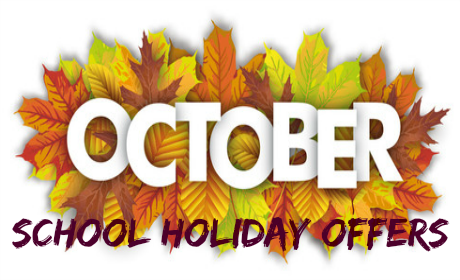 October school holiday offers