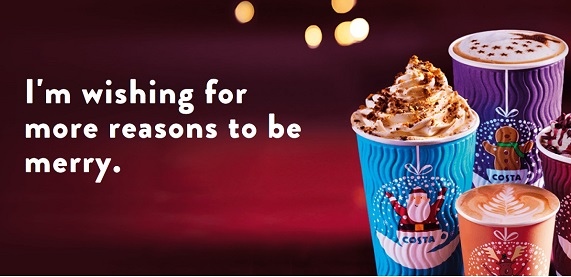 Costa Coffee's festive menu has arrived